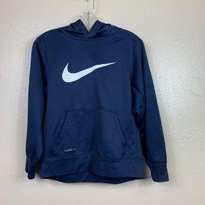 Boys Nike navy hoodie